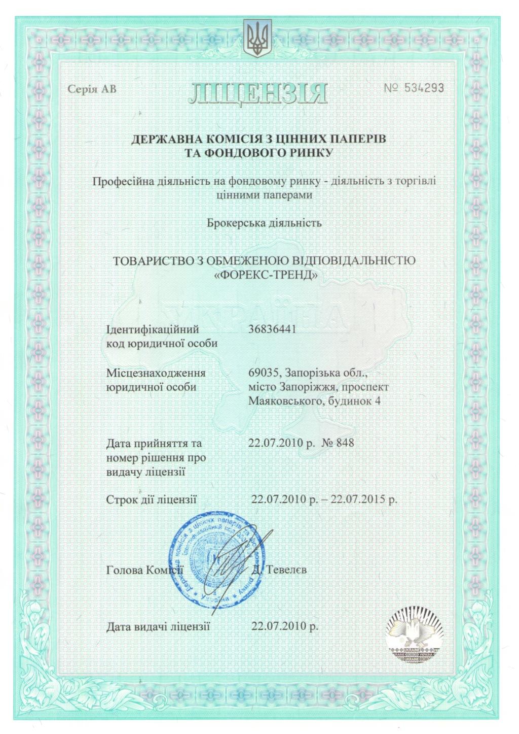 Лицензии Forex